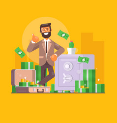 saving money business finance and investment vector image