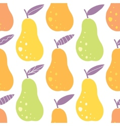yummy pears seamless pattern background vector image vector image