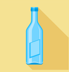 blue glass bottle icon flat style vector image