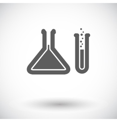 Chemisty flat icon vector image vector image
