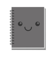 kawaii note book vector image