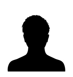 Man silhouette profile picture vector image