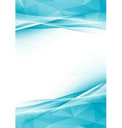 Modern crystal abstract border folder design vector image vector image