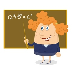 Teacher woman with blackboard vector image