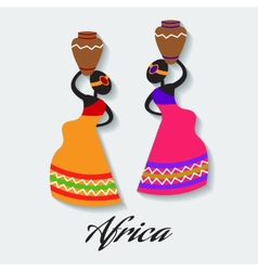 africa woman vector image vector image
