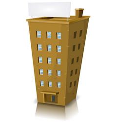 cartoon residential building vector image vector image