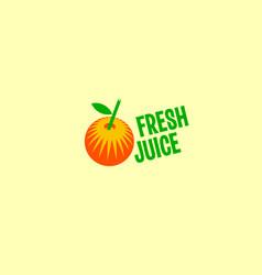fresh fruit juice logo vector image