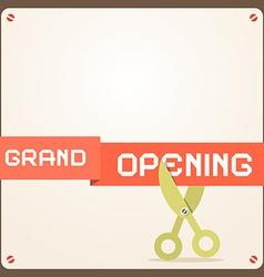Grand Opening Retro Flat Design vector image vector image