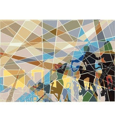 Gymnasium mosaic vector image vector image