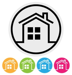 Round Home Button vector image