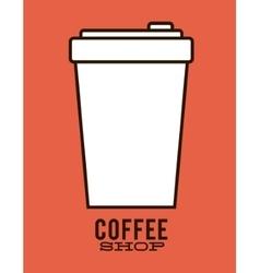 Disposable cup of coffee shop design vector