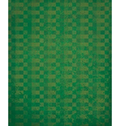green checked pattern vector image