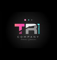 tri t r i three letter logo icon design vector image vector image
