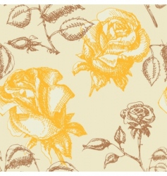 yellow roses pattern vector image vector image