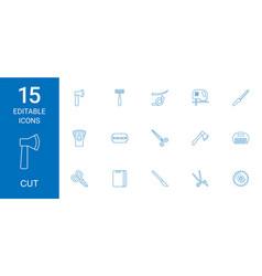 15 cut icons vector