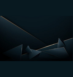 Abstract 3d luxury polygon background vector