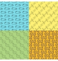 arrow seamless pattern vector image