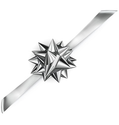 Beautiful shiny bow vector image