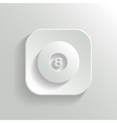 Billiard icon - white app button vector image