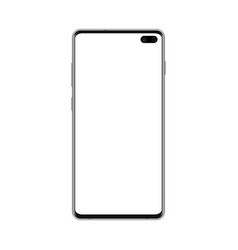 black smartphone mockup with blank screen cell vector image