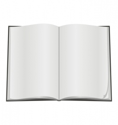 blank open book vector image