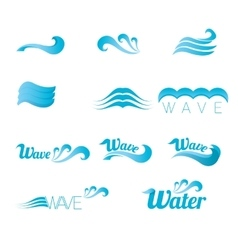 blue wave logo design elements abstract wave vector image