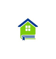 Book house education logo vector