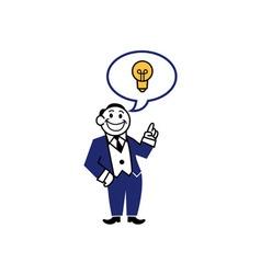 Business Clipart Get Idea vector image