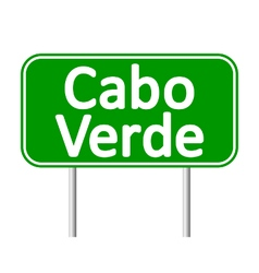 Cabo Verde road sign vector