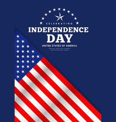 celebration flag america independence day poster vector image