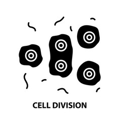 Cell division icon black sign with vector