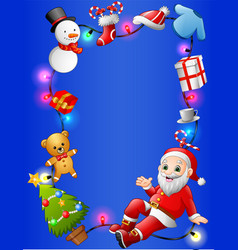 christmas decoration collection set vector image