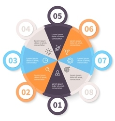 Circular infographics with number options vector