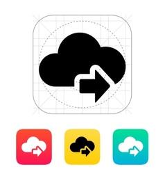 Cloud computing with next arrow icon vector
