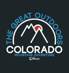 Colorado t-shirt design with slogan typography vector