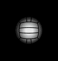 Colorful dotted water polo on black vector