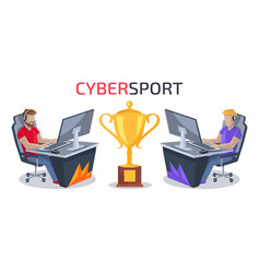 Cybersport player vs player vector