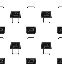 Drawing board icon in black style isolated on vector