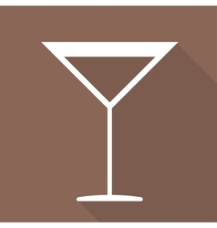 Drink glass web icon vector image