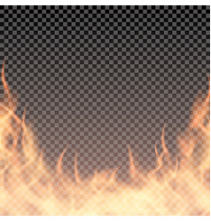 fire wall burning border template for banner or vector image