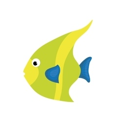 Fish sea life animal icon graphic vector