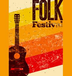 folk festival poster vector image