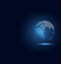 Futuristic globe digital transformation abstract vector