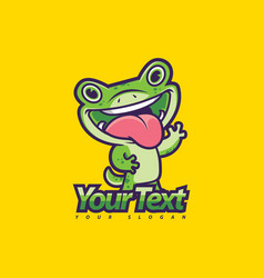 gecko mascot vector image