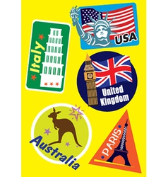 Geographical stickers vector
