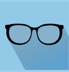 glasses icon elements for design vector image