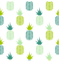 green pineapple seamless fruit pattern vector image