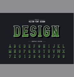 Halftone font and alphabet digital writing style vector