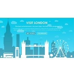 Header Template London scenery vector image