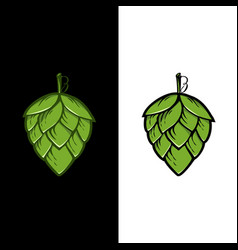 Hops plant logo hop green isolated graphic vector